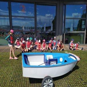 Dzieci za łódka